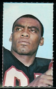 Claude Humphrey 1969 Glendale Stamps football card