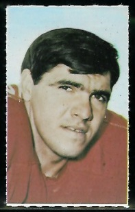Pete Duranko 1969 Glendale Stamps football card