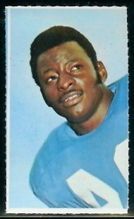Mel Farr 1969 Glendale Stamps football card