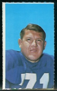 Alex Karras 1969 Glendale Stamps football card