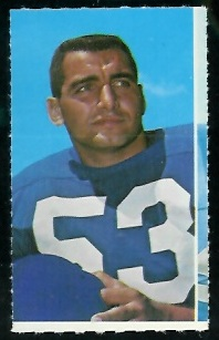 Mike Lucci 1969 Glendale Stamps football card