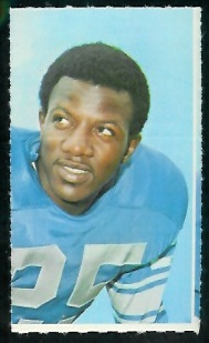 Earl McCullouch 1969 Glendale Stamps football card