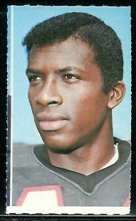 Jerry Simmons 1969 Glendale Stamps football card
