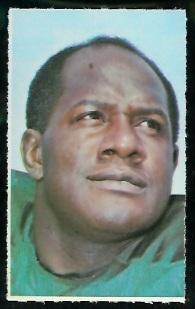 Willie Davis 1969 Glendale Stamps football card