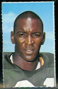 Marv Fleming 1969 Glendale Stamps football card