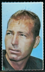 Bart Starr 1969 Glendale Stamps football card