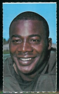 Willie Wood 1969 Glendale Stamps football card