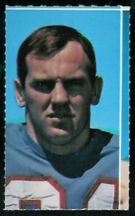 Jim Beirne 1969 Glendale Stamps football card