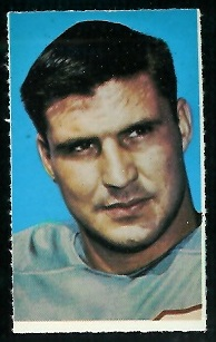 Hoyle Granger 1969 Glendale Stamps football card