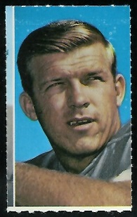 Don Trull 1969 Glendale Stamps football card