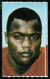 Aaron Brown 1969 Glendale Stamps football card