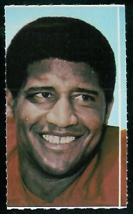 Buck Buchanan 1969 Glendale Stamps football card