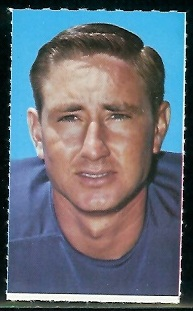 Jerry Logan 1969 Glendale Stamps football card