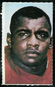 Willie Lanier 1969 Glendale Stamps football card