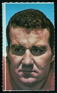 Jim Tyrer 1969 Glendale Stamps football card