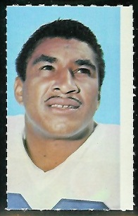 Dick Bass 1969 Glendale Stamps football card