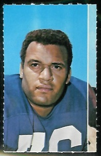 Roger Brown 1969 Glendale Stamps football card