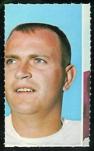 Bruce Gossett 1969 Glendale Stamps football card