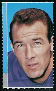 Tommy Mason 1969 Glendale Stamps football card