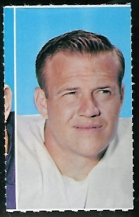 Ed Meador 1969 Glendale Stamps football card