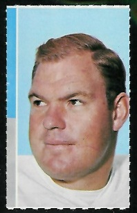 Merlin Olsen 1969 Glendale Stamps football card