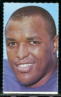 John Mackey 1969 Glendale Stamps football card