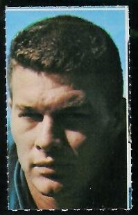 Norm Evans 1969 Glendale Stamps football card