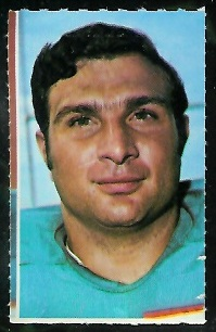 Nick Buoniconti 1969 Glendale Stamps football card