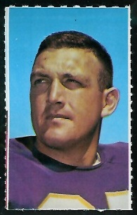 Grady Alderman 1969 Glendale Stamps football card