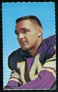 Fred Cox 1969 Glendale Stamps football card