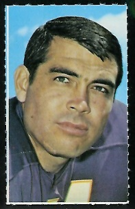 Joe Kapp 1969 Glendale Stamps football card