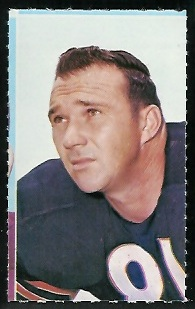Doug Atkins 1969 Glendale Stamps football card