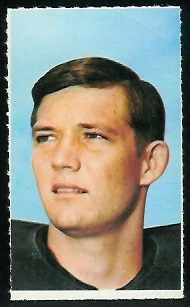 Bo Burris 1969 Glendale Stamps football card