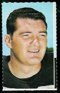 Dave Parks 1969 Glendale Stamps football card