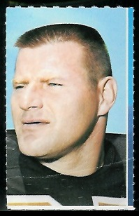 Monty Stickles 1969 Glendale Stamps football card