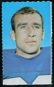 Scott Eaton 1969 Glendale Stamps football card