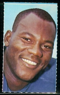 Willie Richardson 1969 Glendale Stamps football card