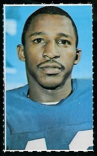 Spider Lockhart 1969 Glendale Stamps football card