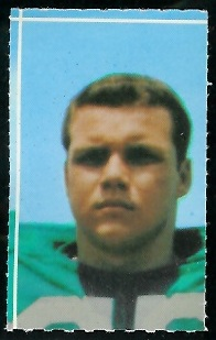 Al Atkinson 1969 Glendale Stamps football card