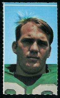 John Elliott 1969 Glendale Stamps football card