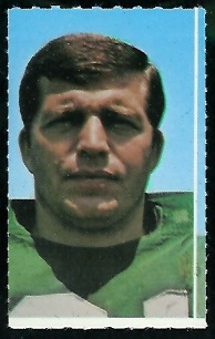 Gerry Philbin 1969 Glendale Stamps football card