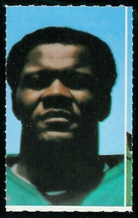 Matt Snell 1969 Glendale Stamps football card