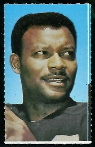 Willie Brown 1969 Glendale Stamps football card