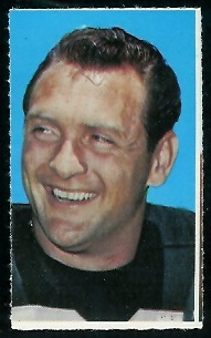Billy Cannon 1969 Glendale Stamps football card