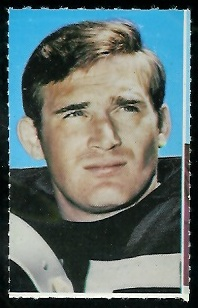 Dan Conners 1969 Glendale Stamps football card