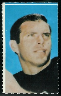 Daryle Lamonica 1969 Glendale Stamps football card