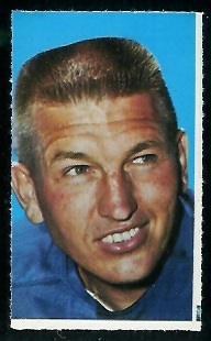 John Unitas 1969 Glendale Stamps football card