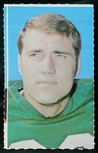 Fred Hill 1969 Glendale Stamps football card