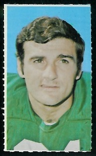 Joe Scarpati 1969 Glendale Stamps football card