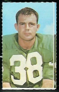 Sam Baker 1969 Glendale Stamps football card